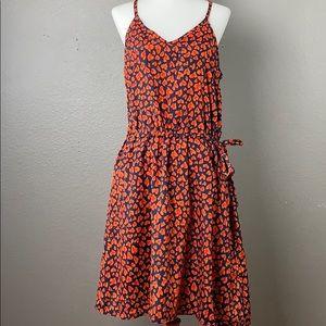 Collective Concepts orange leopard print dress